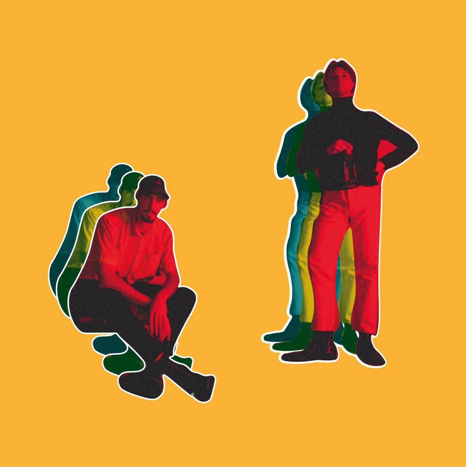 Image of the band Blond on a yellow background