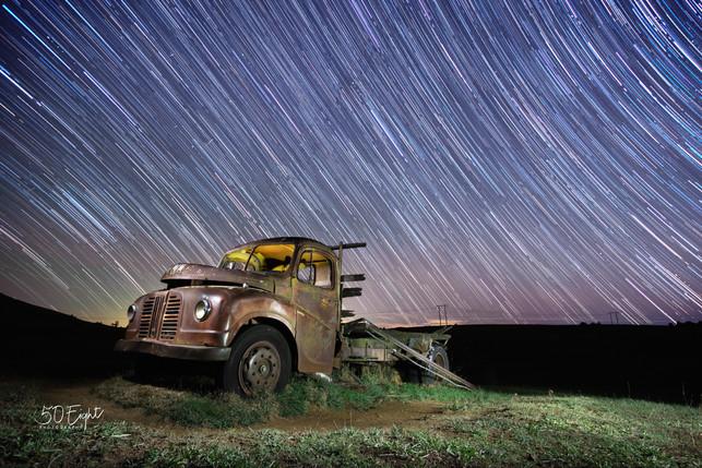Blue Truck Star Trails