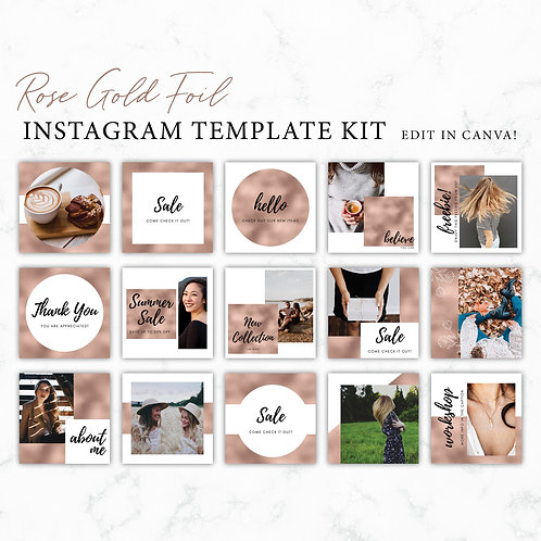 Rose Gold Instagram Branding Template