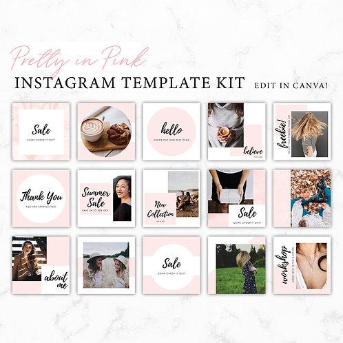 Pretty in Pink Instagram Template Kit