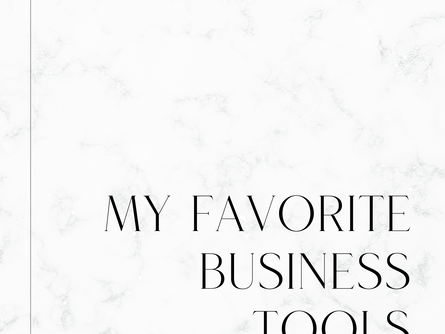 My favorite business tools as a graphic designer