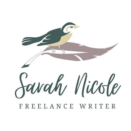 Freelance Writer Pre-Made Logo Template
