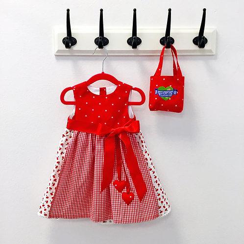 Mini Schatzi Dirndl - Cherry