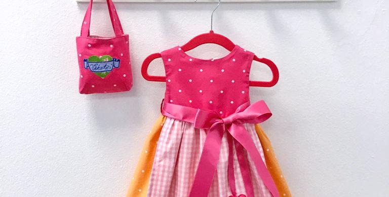 Mini Schatzi Dirndl - Pink Peach