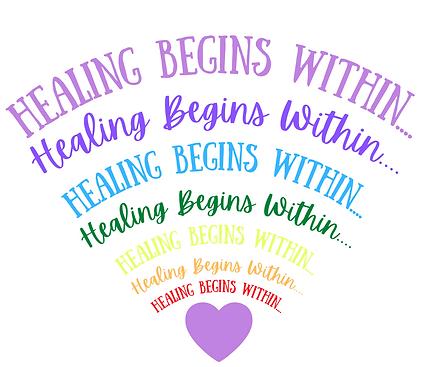 Healing Begins Within....rainbow logo.pn