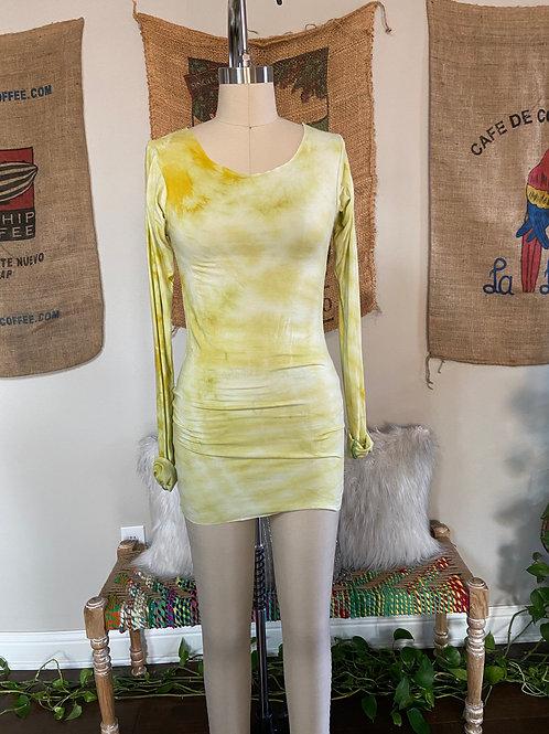 Lime Tie-Dye Long Sleeve Top