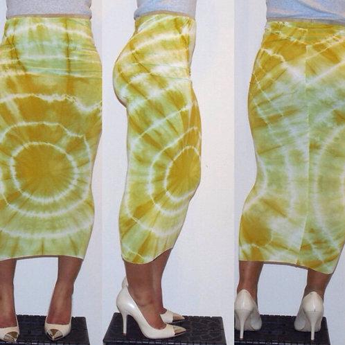 Split Pea Tie-Dye Pencil Skirt