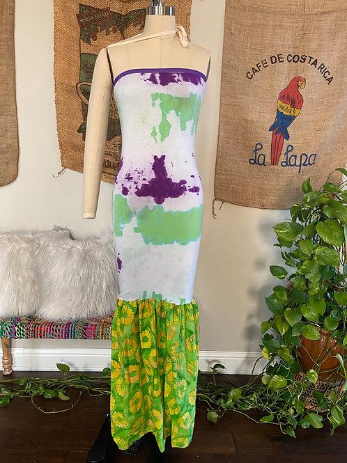 Purple/Green Maxi Dress