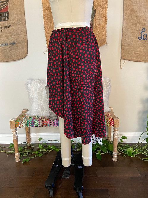 Hi-Lo Polka Dot Skirt