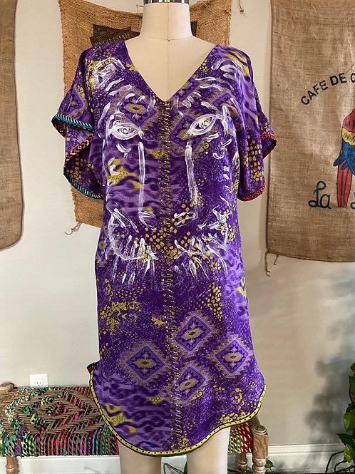 Purple Print Tunic/Dress