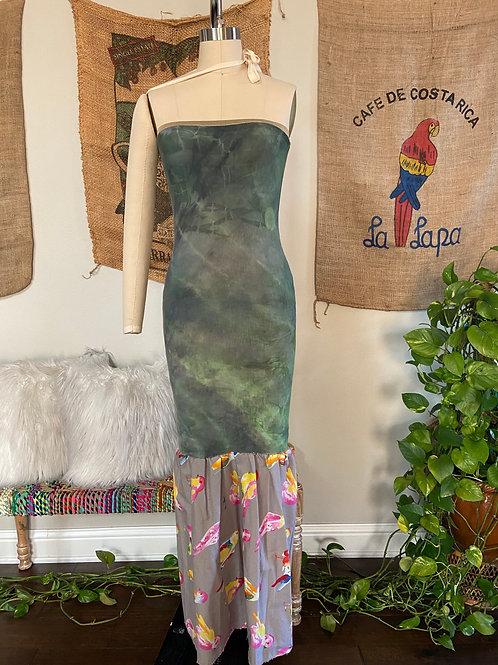 Green Tie-Dye Maxi Dress