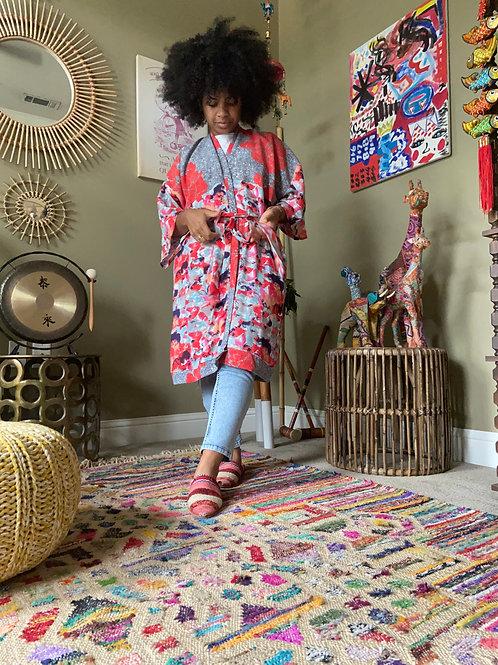 Upcycled Robe : Floral Mashup