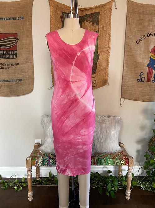 Fuchsia Tie-Dye Dress