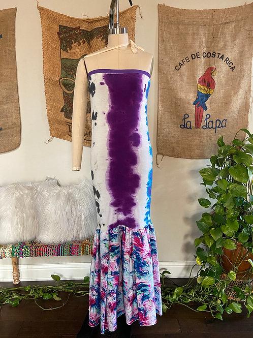 Purple Tie-Dye Maxi Dress