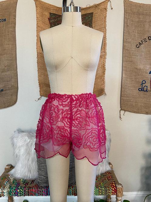 Pink Mesh Shorts