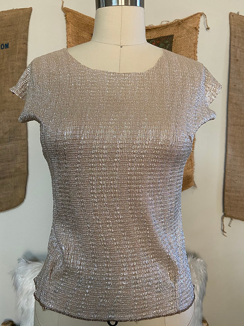 Lamé Fitted Top