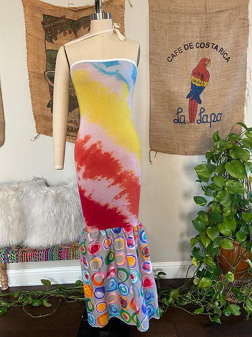 Rainbow Tie-Dye Maxi Dress