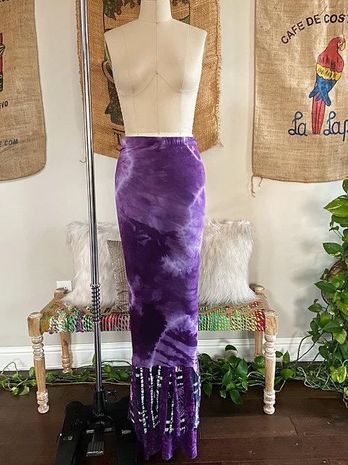 Purple Tie-Dye Skirt