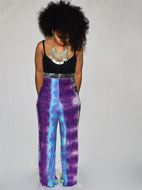 Reversible Multi Color Tie-Dye High Waisted Pants