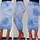 Thumbnail: Cloudy Blue Tie-Dye Pencil Skirt