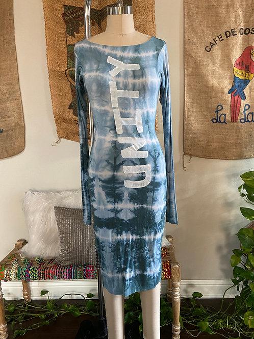 Tie-Dye Fitted Dress