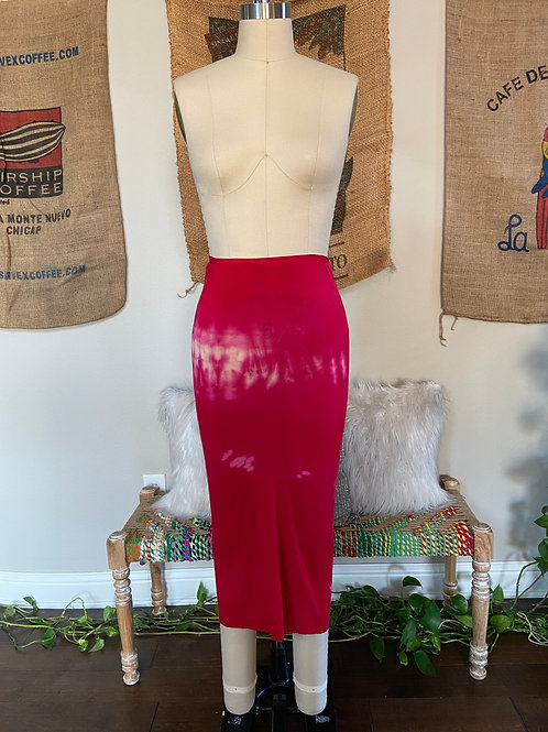 Red Bleached Skirt