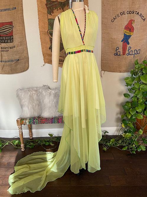 Lime Chiffon Dress