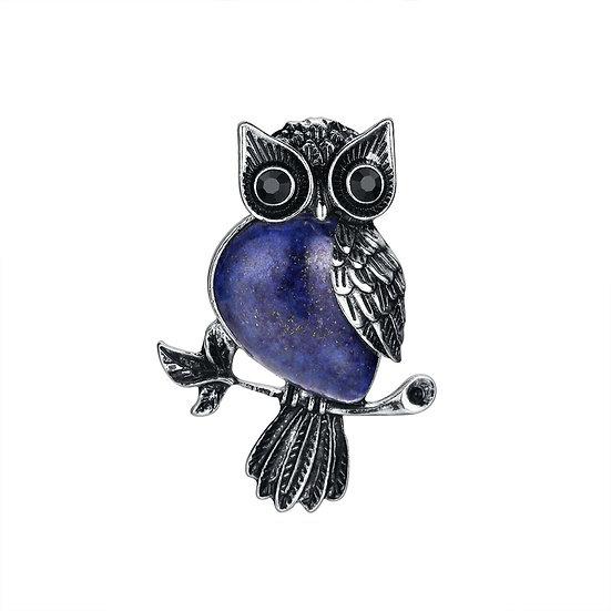 Pendentif Hibou Lapis-Lazuli