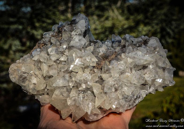 Calcite dogtooth gemme sur Basalte de Valcan Quarry, USA