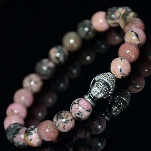 Bracelet Bouddha Rhodonite