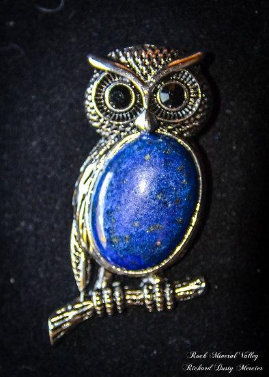 Pendentif Luxe Chouette Lapis Lazuli