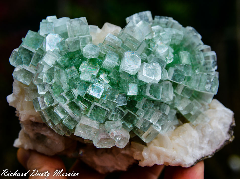 "Green Apophyllite ""Disco ball"""