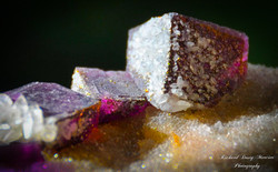Fluorite with Calcite and Pyrite