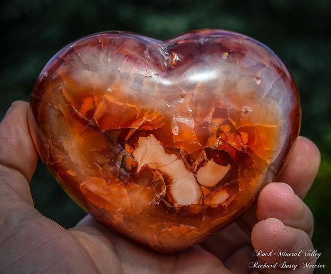 Coeur en Cornaline