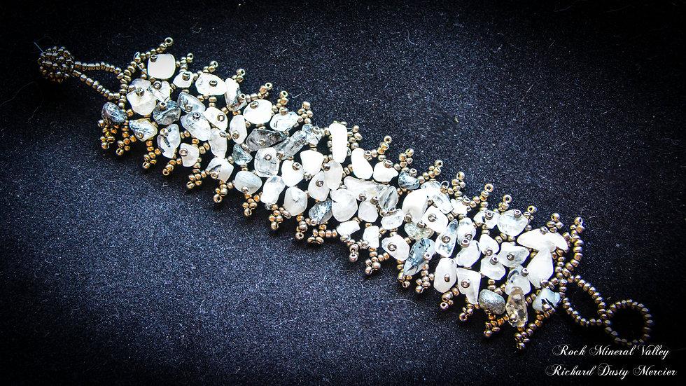Bracelet Chips Quartz Tourmaline noir Confort