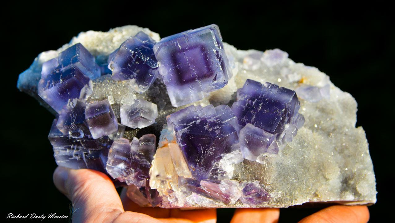 Blue and Purple zoning Fluorite