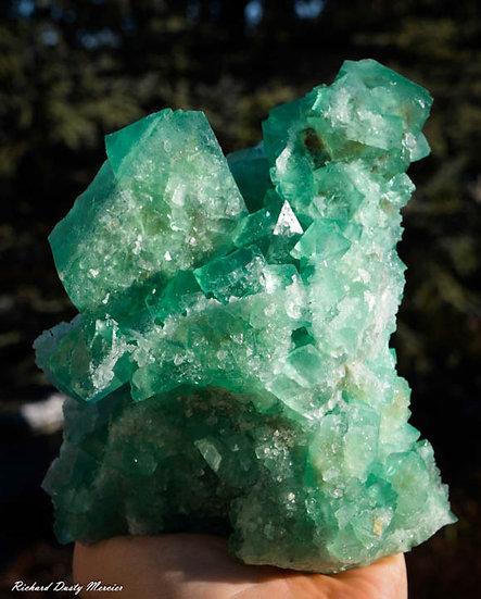 Fluorite verte Quartz de Riemvasmaak