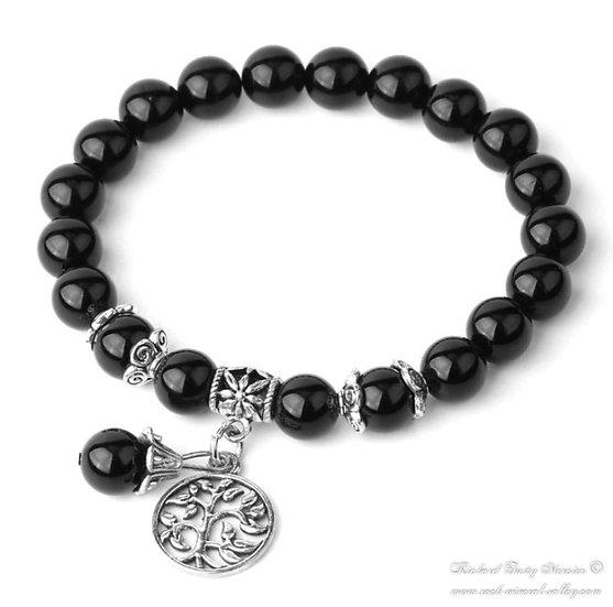Bracelet Arbre de Vie Obsidienne