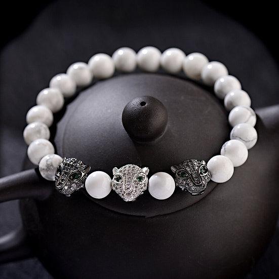 Bracelet Panthére Howlite
