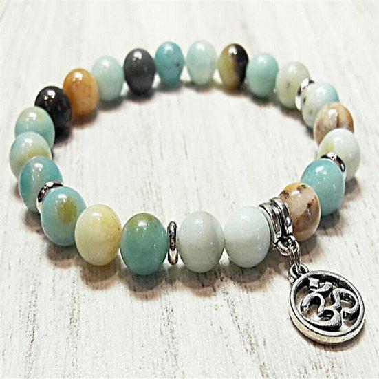 Bracelet OM Zen Pierre Amazonite