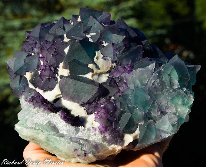 Fluorite Octaèdre de DeAn Mine, Chine XL