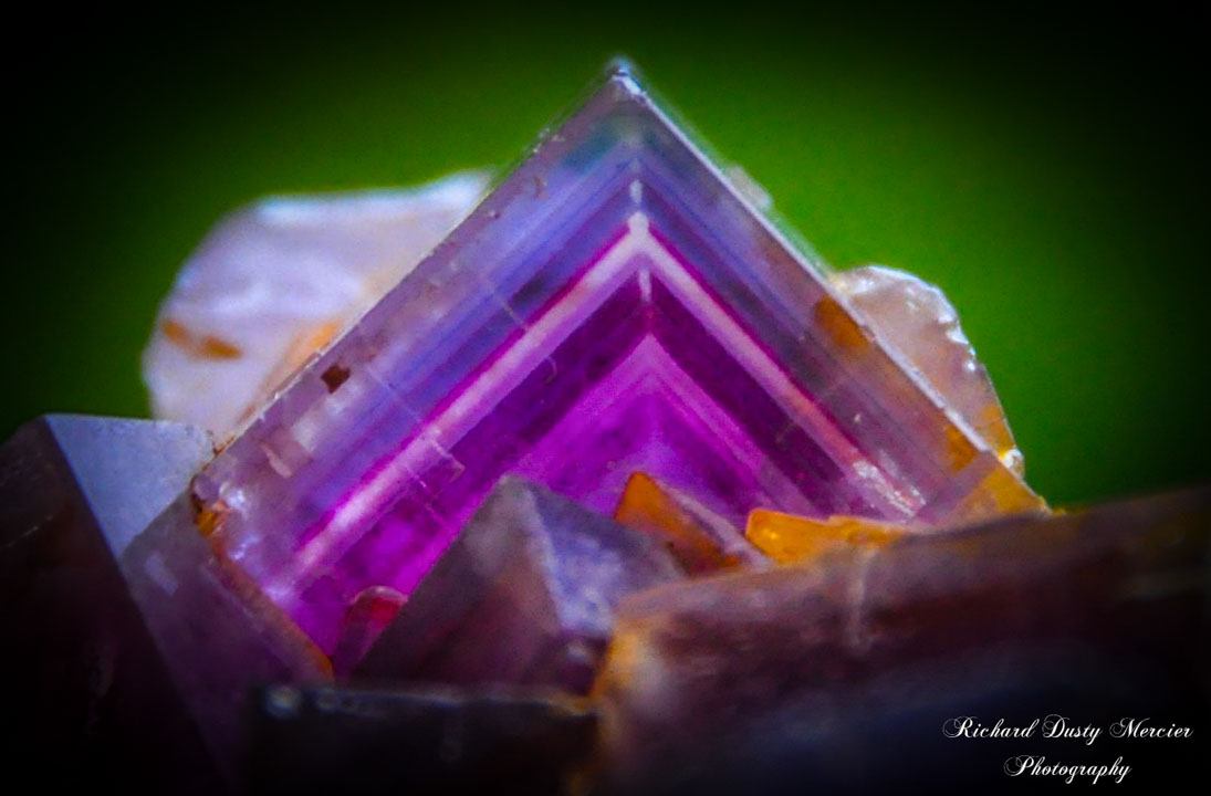 Fluorite with Baryte and Quartz