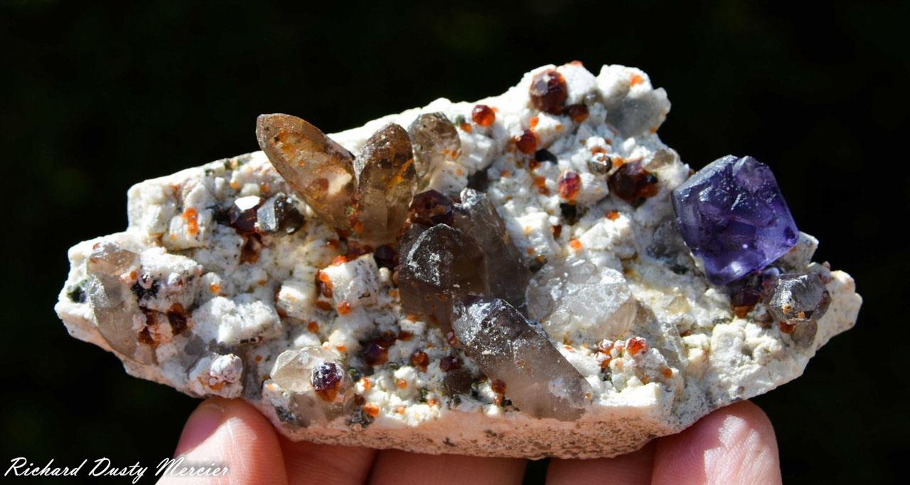 Fluorite Quartz and Garnet