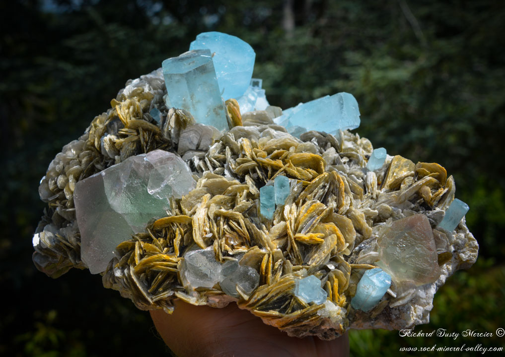 AquaMarine (Aigue Marine) Fluorite