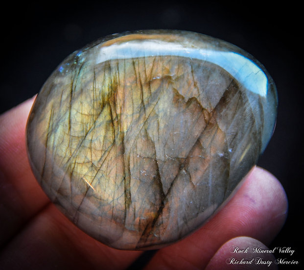 Labradorite galet Orange