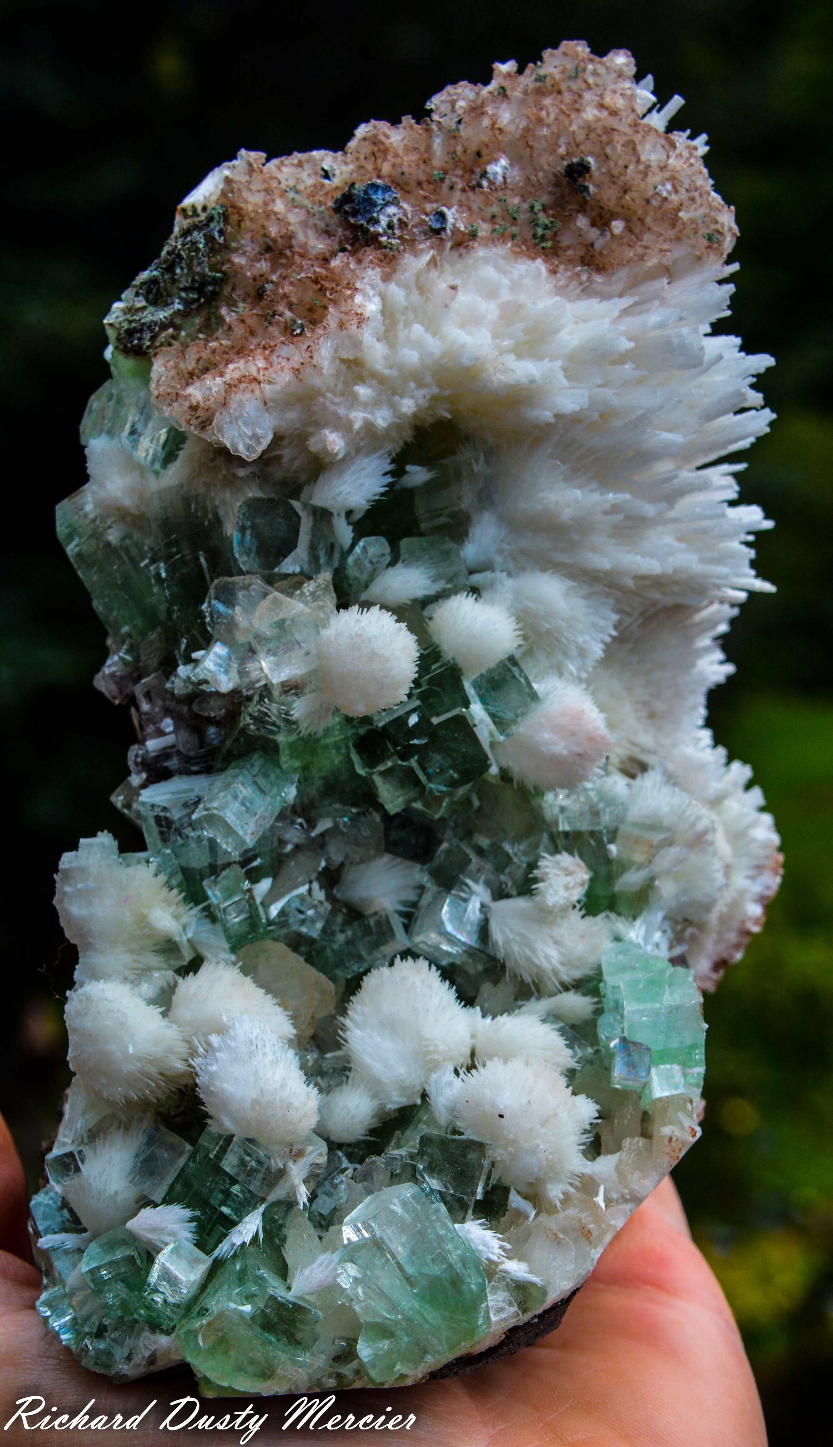 Scolecite and green Apophyllite