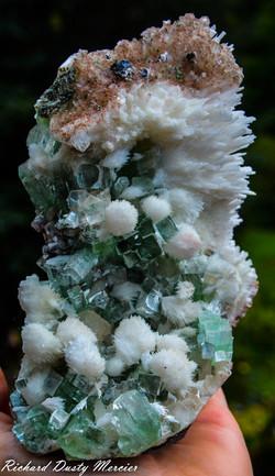 Scolecite and green Apophyllite