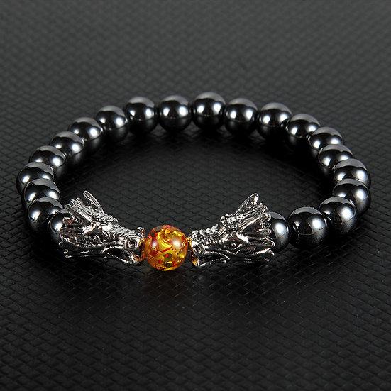 Bracelet Hématite Dragon homme femme
