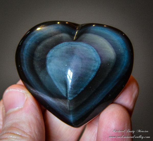 Coeur en Obsidienne Oeil Céléste