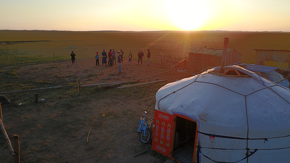 The Mongolian ger on the grasslands